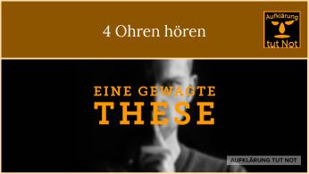 4 Ohren hören im 4 Ohren Modell