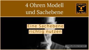 4 Ohren Modell und Sachebene