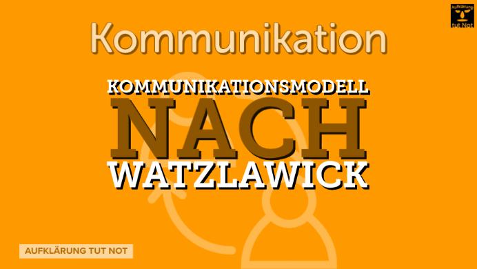Kommunikationsmodell nach Watzlawick