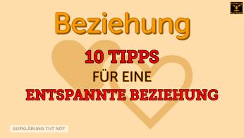 10 Tipps für eine entspannte Beziehung